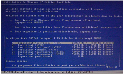 formater son ordinateur puis  reinstaller windows XP.